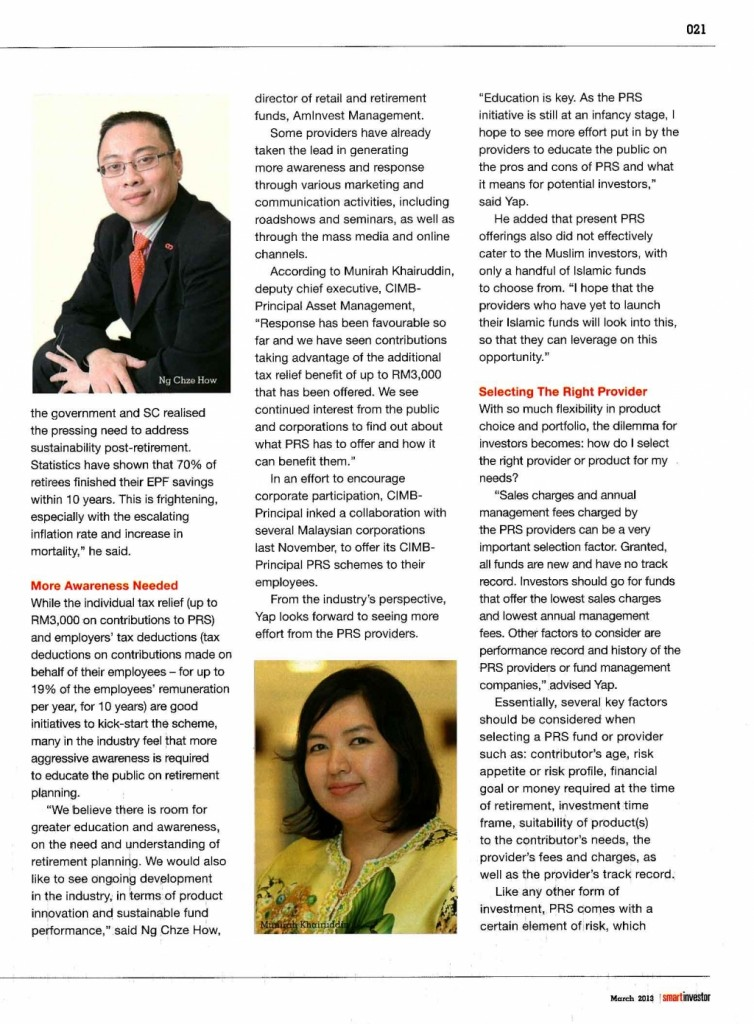 Investing For The Golden Years - part 2 (Smart Investor- Mar 2013) - 03 Mar 2013