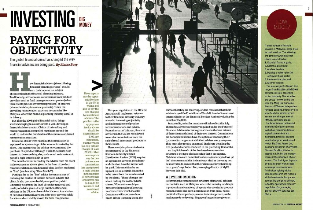 Paying for Objectivity- part 1 (Personal Money- Feb 2013) - 19 Feb 2013