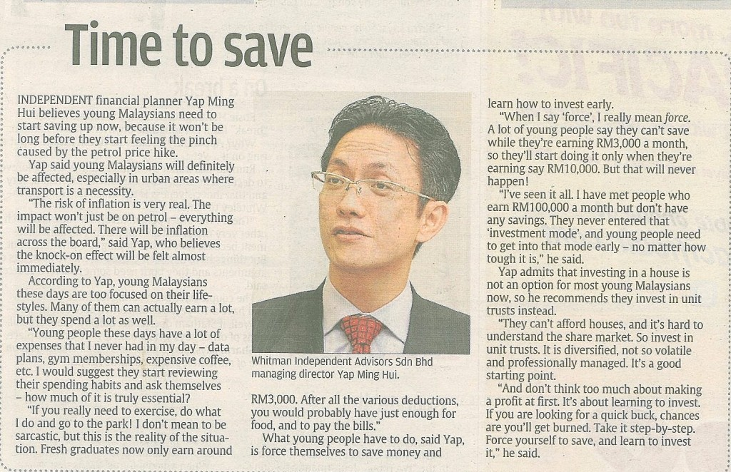 Time to Save (The Star) - 05 Sep 2013