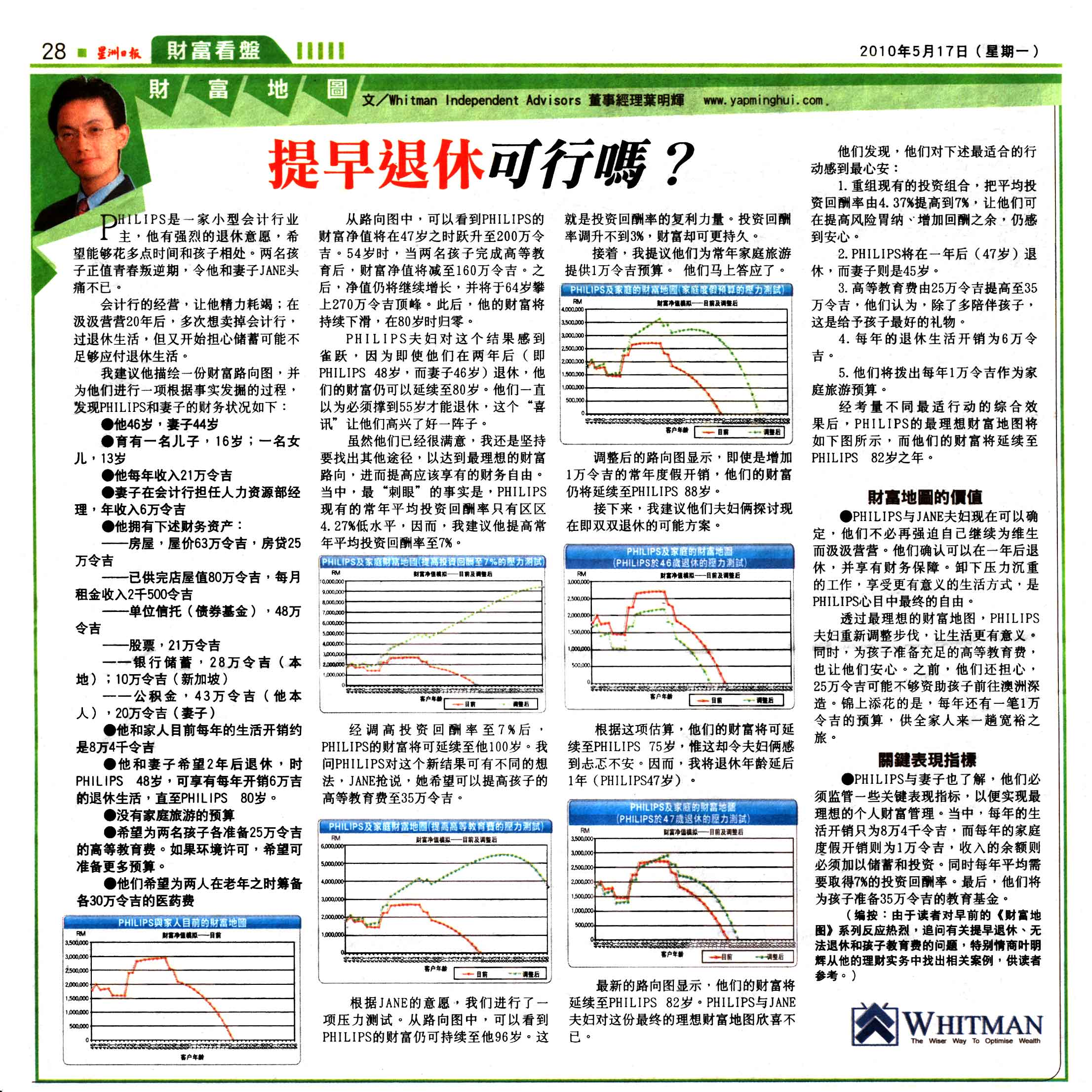 提早退休可行吗?(星洲日报) - 17 May 2010