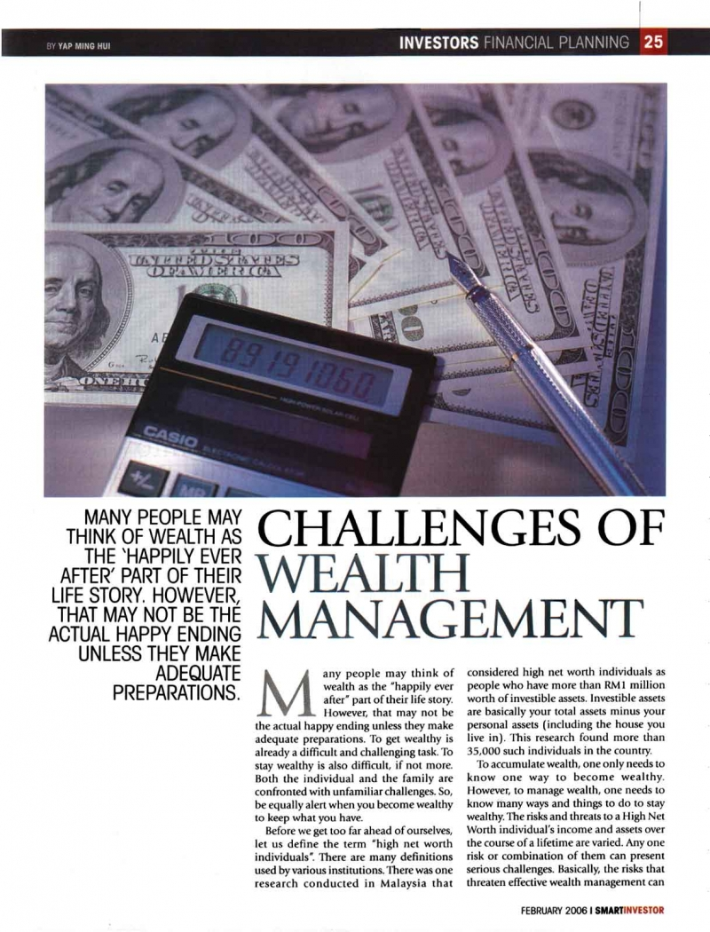 Challenges of Wealth Management (Smart Investor) - 01 Feb 2006