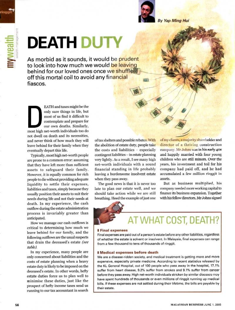 Death Duty (Malaysian Business) - 01 Jun 2005