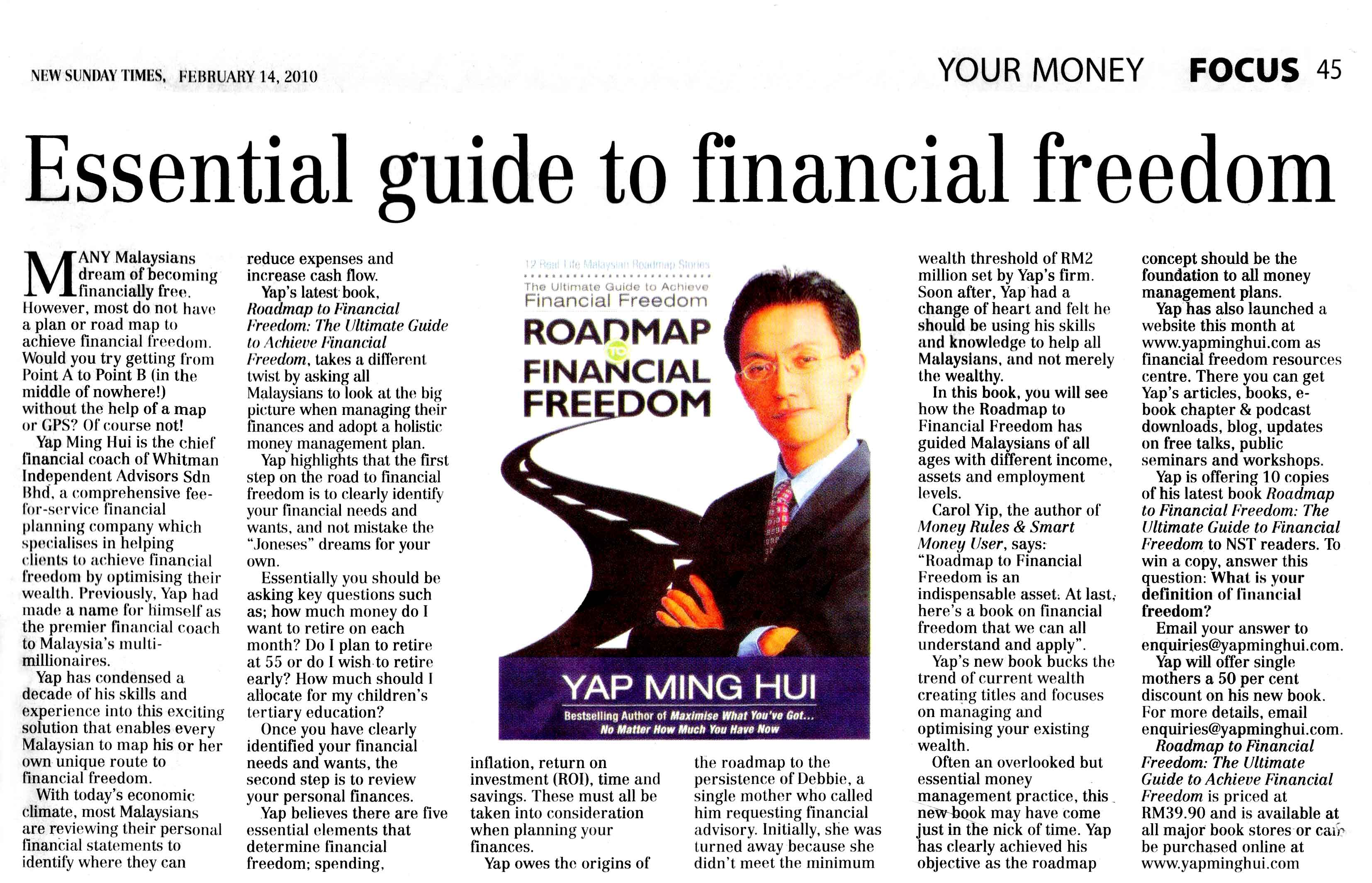 Essential Guide to Financial Freedom - 14 Feb 2010