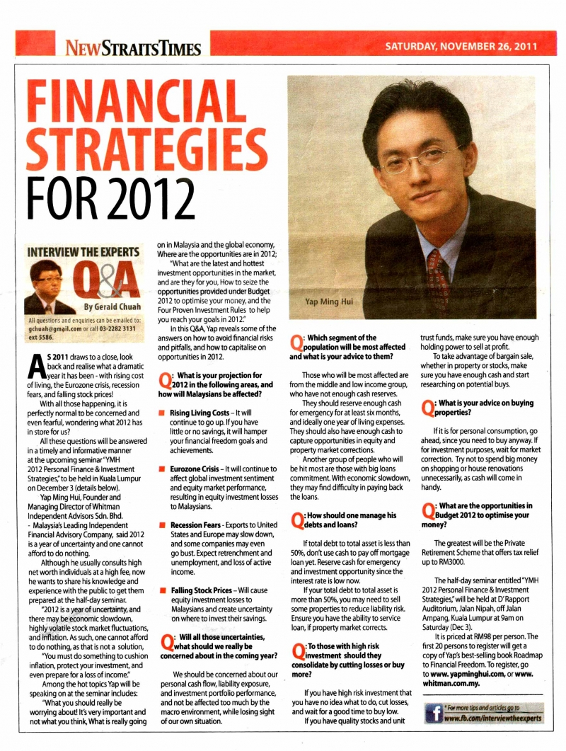 Financial Strategies for 2012_261111