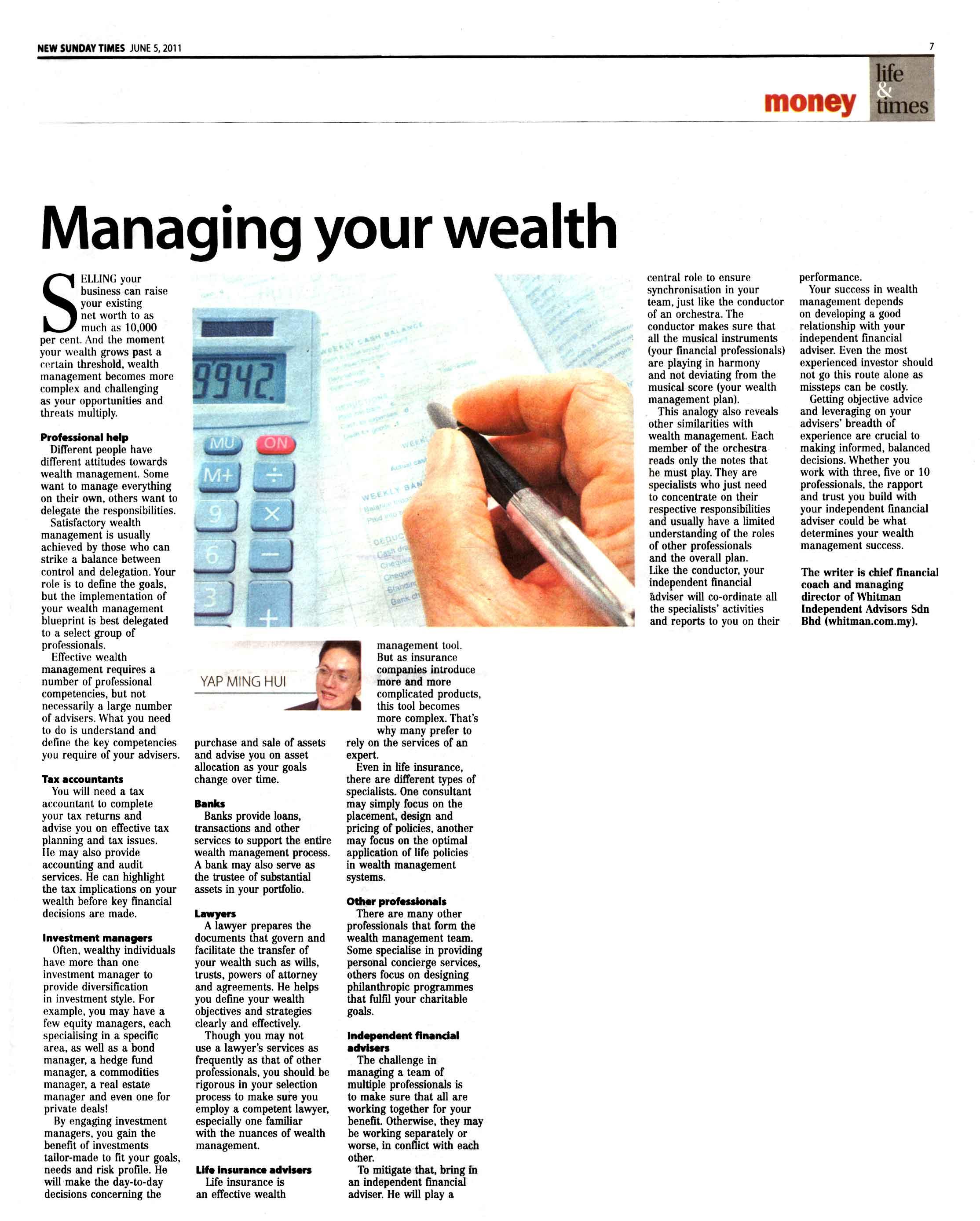 Managing Your Wealth - 05 Jun 2011