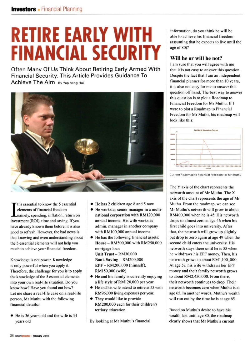 Retire Early with Financial Security (Smart Investor) - 01 Feb 2010