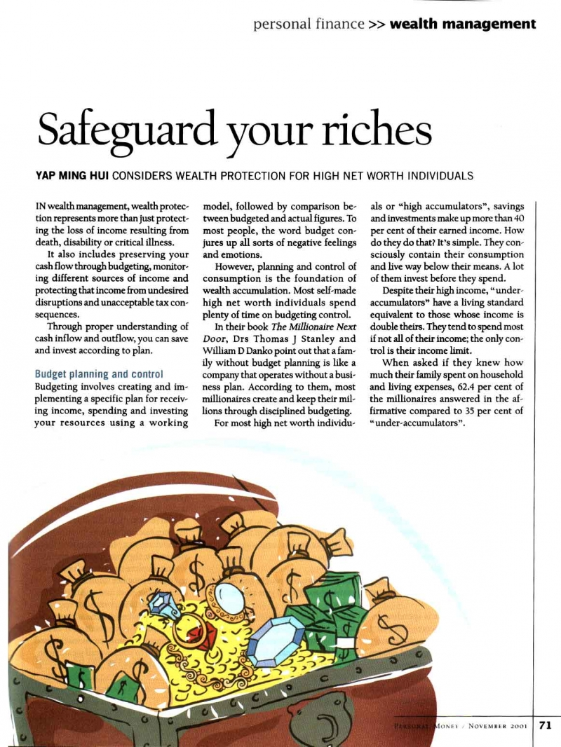 Safeguard Your Riches (Personal Money) - 03 Nov 2001