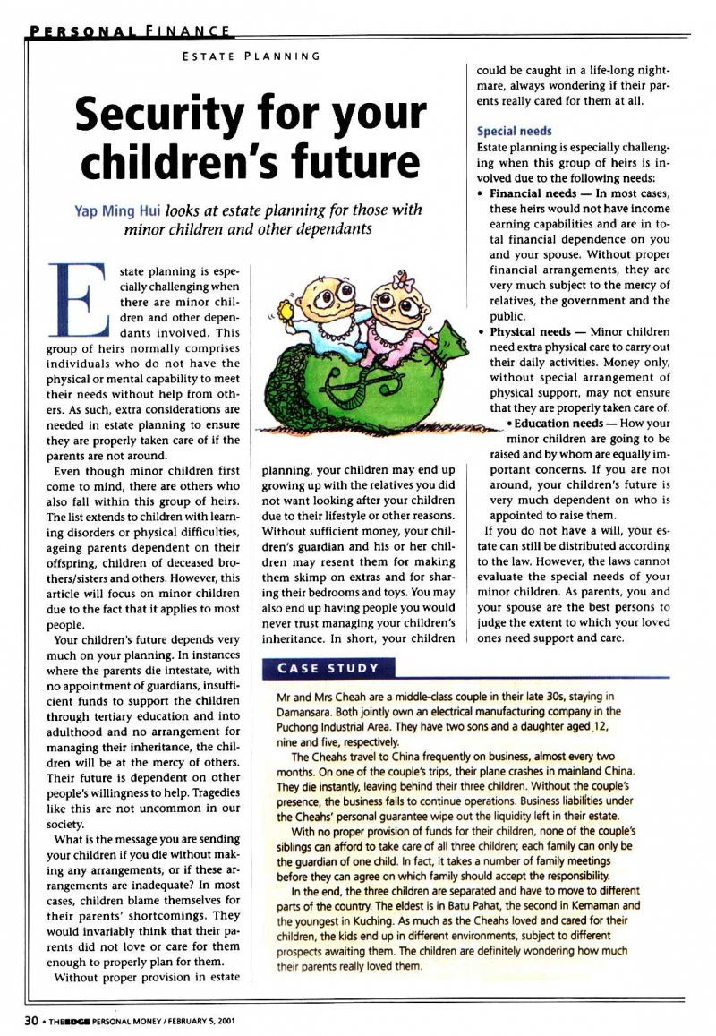 Security for Your Children's Future (Personal Money) - 05 Feb 2001