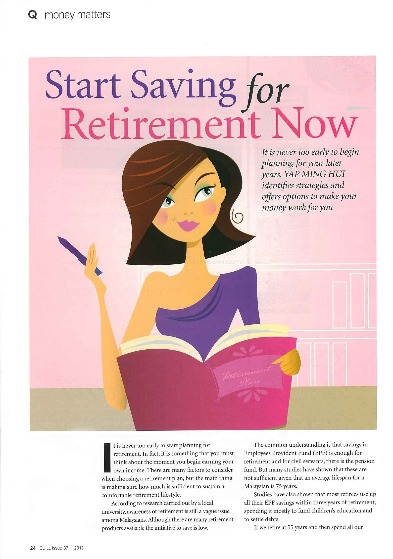 Start Saving for Retirement Now_part 1 - 01 Apr 2013