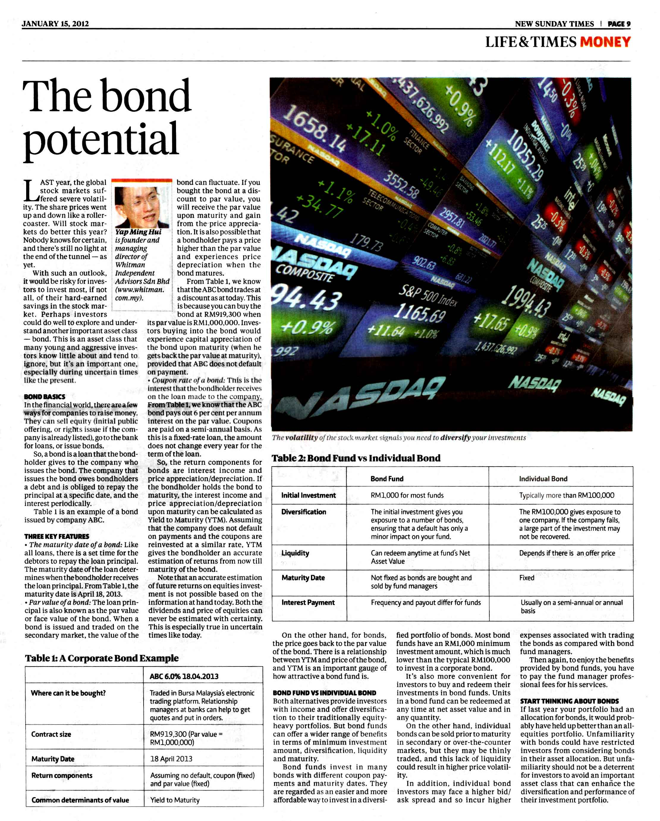 The Bond Potential - 16 Jan 2012