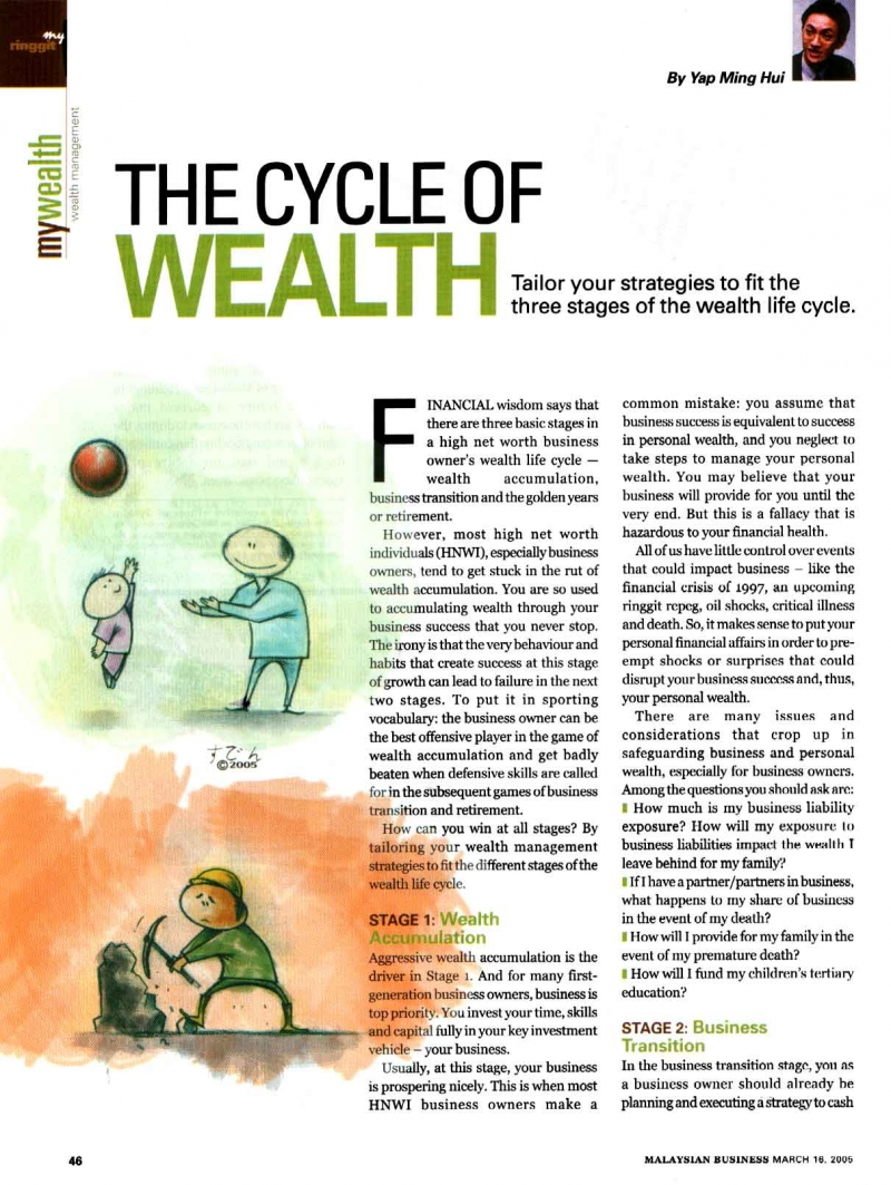 The Cycle of Wealth (Malaysian Business) - 16 Mar 2005