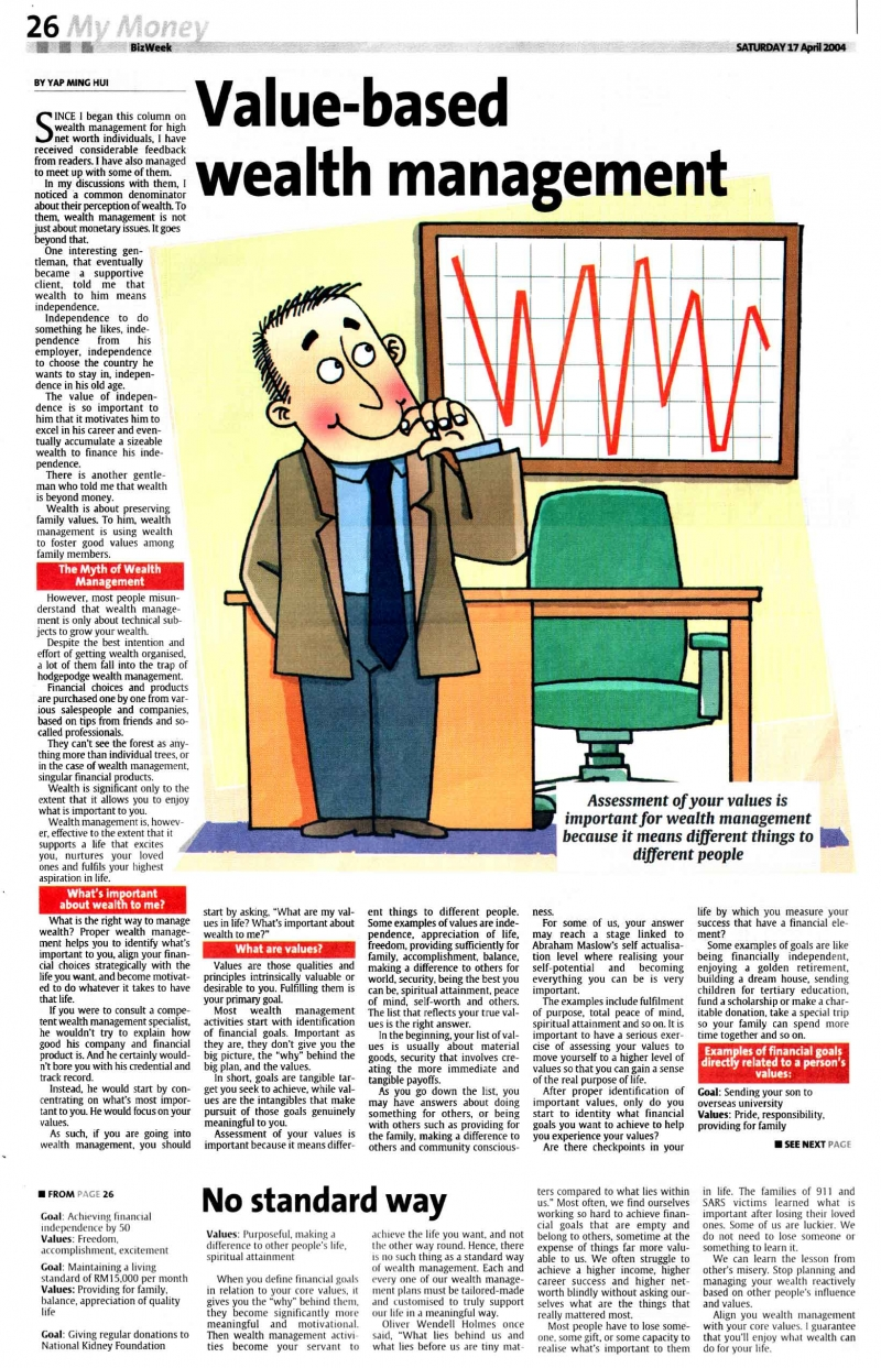 Value-Based Wealth Management (The Star) - 17 Apr 2004