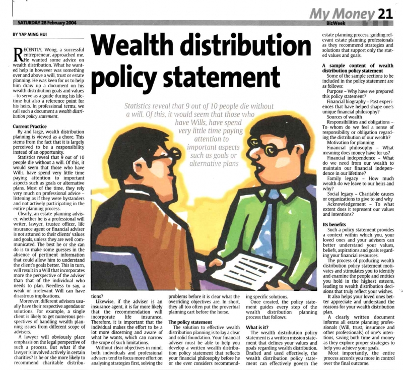 Wealth Distribution Policy Statement (The Star) - 28 Feb 2004