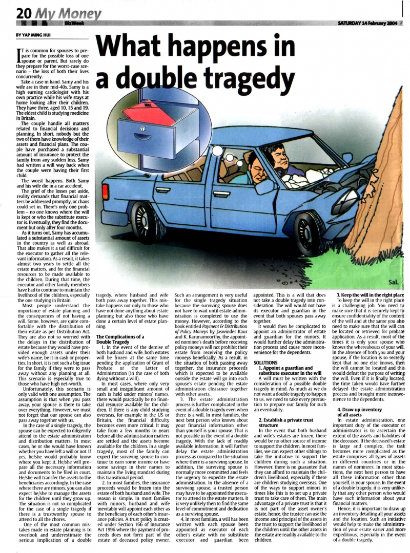 What Happens in a Double Tragedy (The Star) - 14 Feb 2004