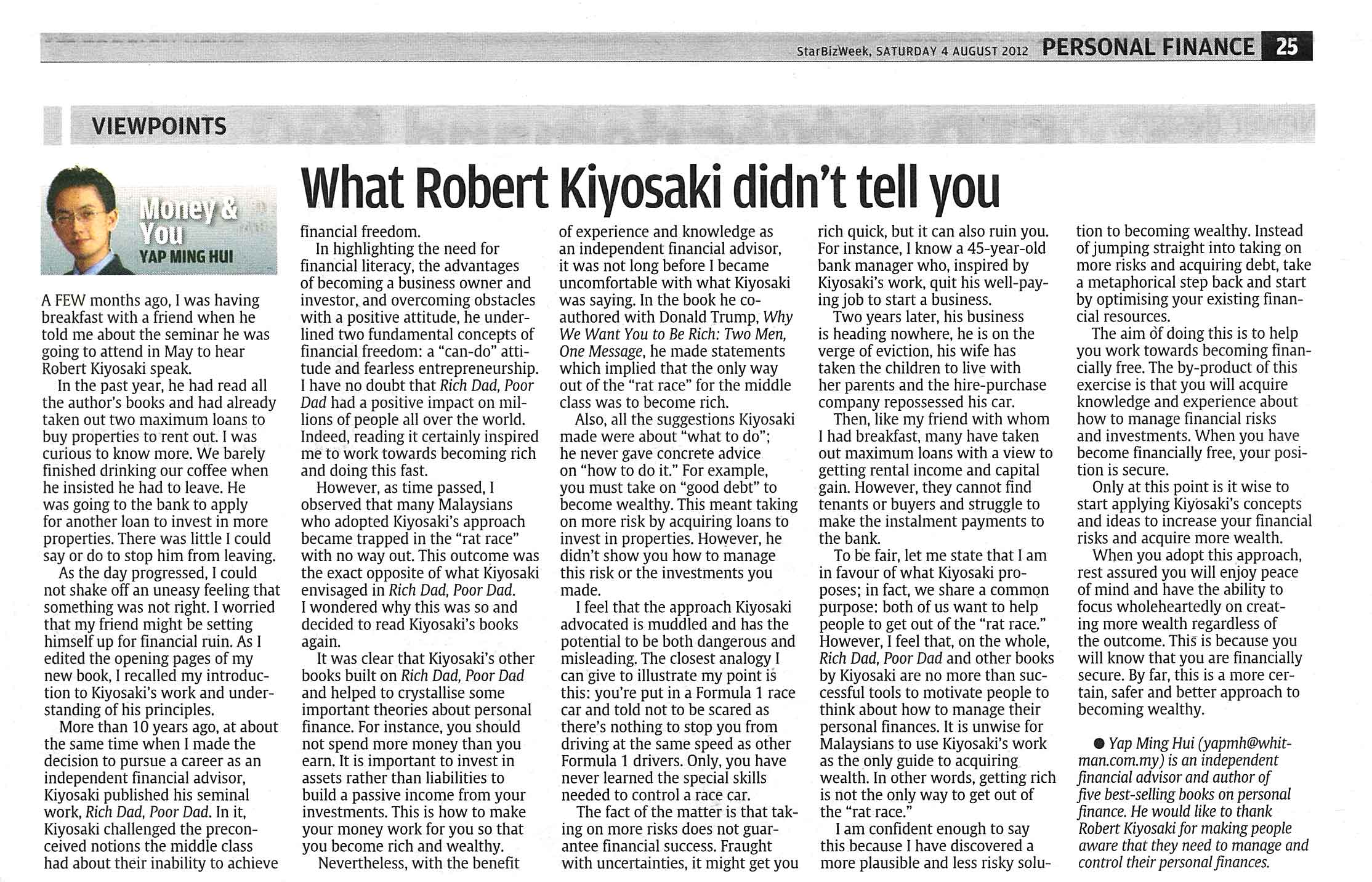 What Robert Kiyosaki Didn't Tell You - 04 Aug 2012