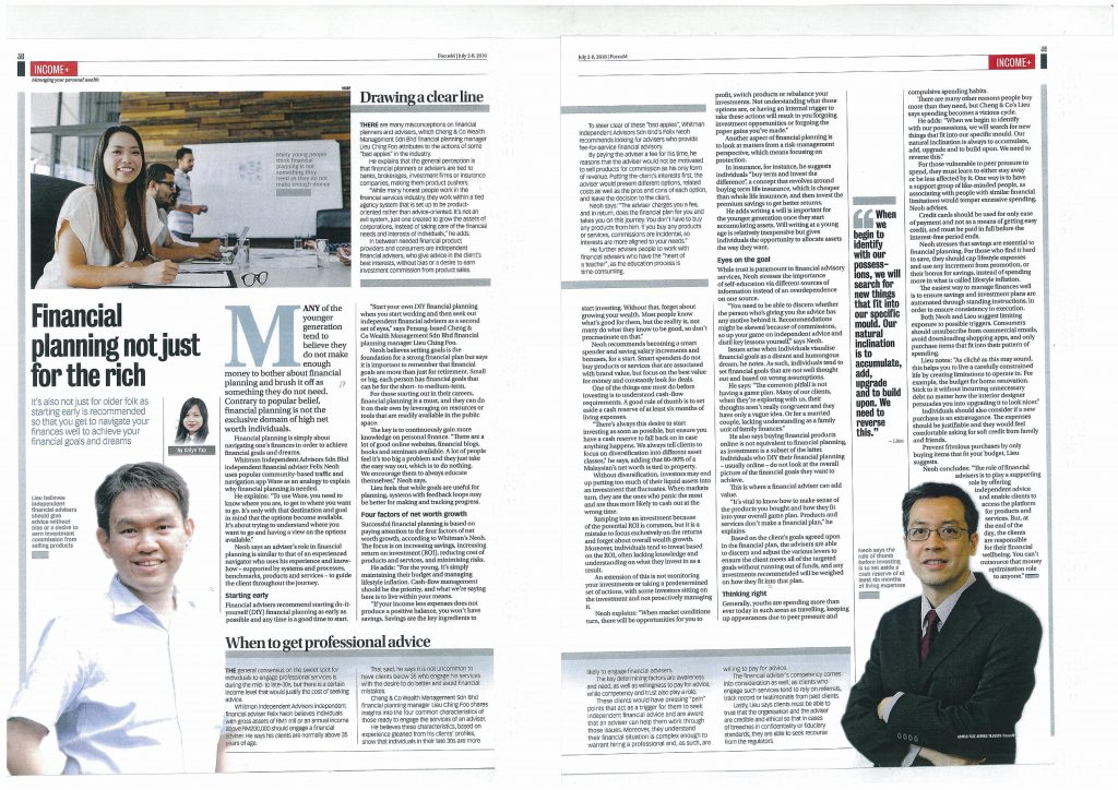 Focus Malaysia- Financial PLanning Not Just for the Rich