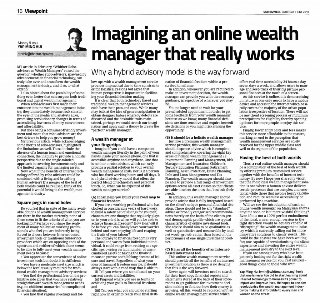 Imagining an online wealth manager that really works.